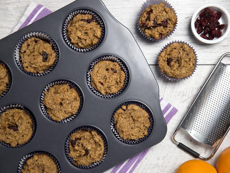 Shelley Case's Gluten Free Orange Cranberry Muffins