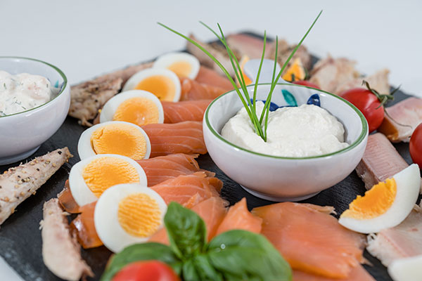 Salmon and Eggs are rich sources of vitamin D on the gluten-free diet